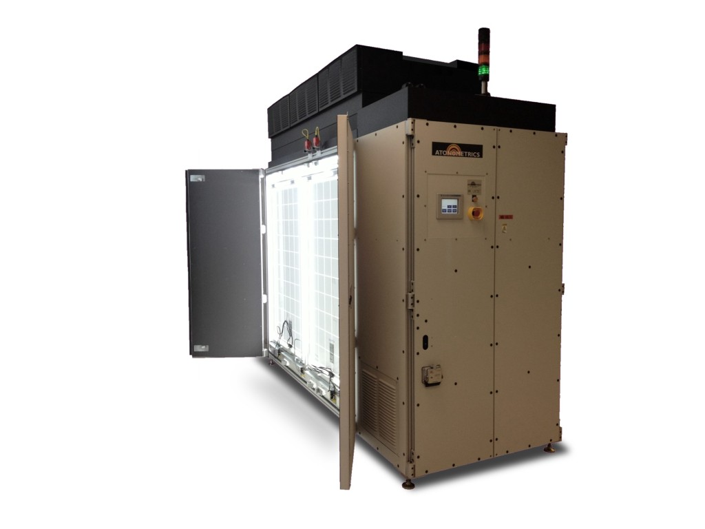continuous solar simulator and light soaking chamber for pv modules atonometrics. Black Bedroom Furniture Sets. Home Design Ideas